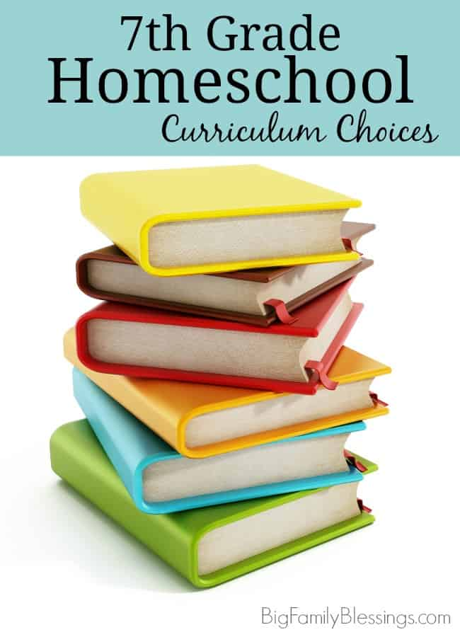 7th Grade Homeschool Curriculum Choices