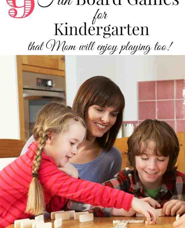 9 Fun Board Games for Kindergarten- that Mom will Enjoy Playing too!