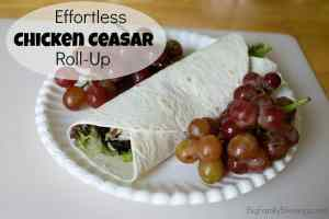 Effortless Chicken Ceasar Roll-Ups