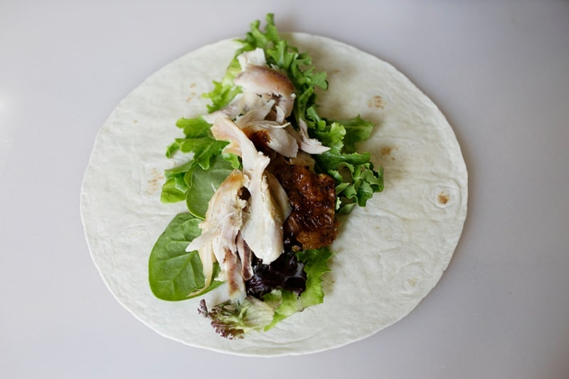Effortless Chicken Ceasar Roll-Up