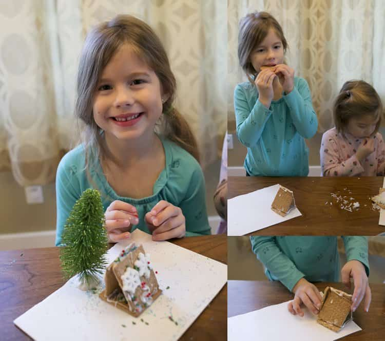 DIY Gingerbread house gift basket