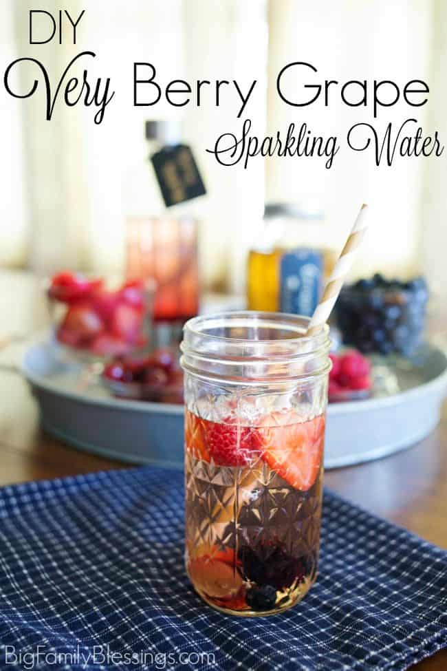 Delicious Very Berry Grape Sparkling Water Recipe