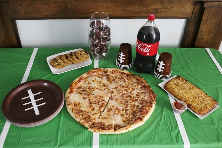 DIY Football Paper Goods for Easy Game Day Table Decor