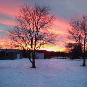 {Almost} Wordless Wednesday – Sunset Edition