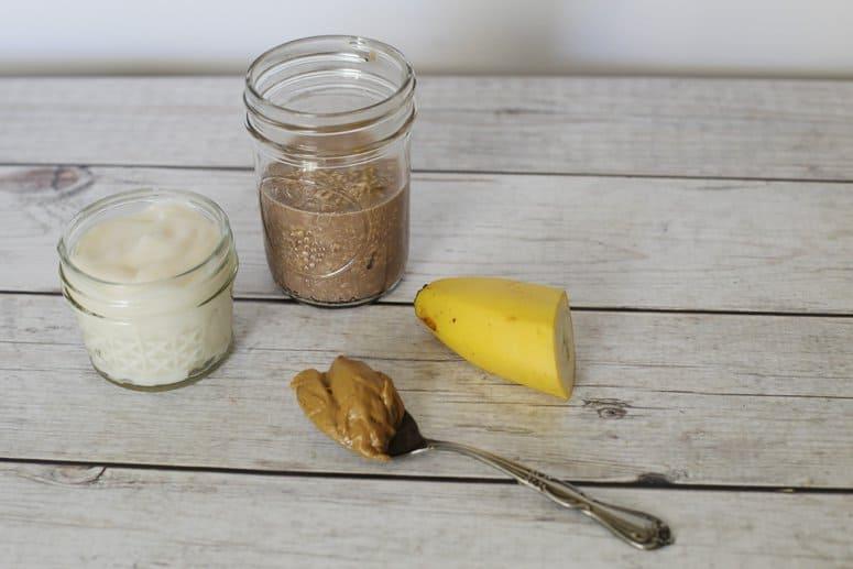 Peanut Butter Banana Overnight Oats