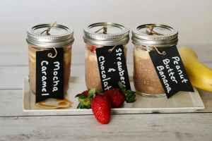 Overnight Chocolate Oats with 3 Easy Flavor Varieties