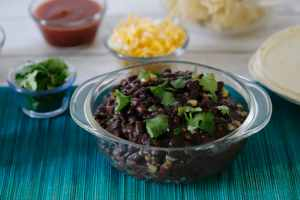 Black Bean Fiesta and Fixings Station
