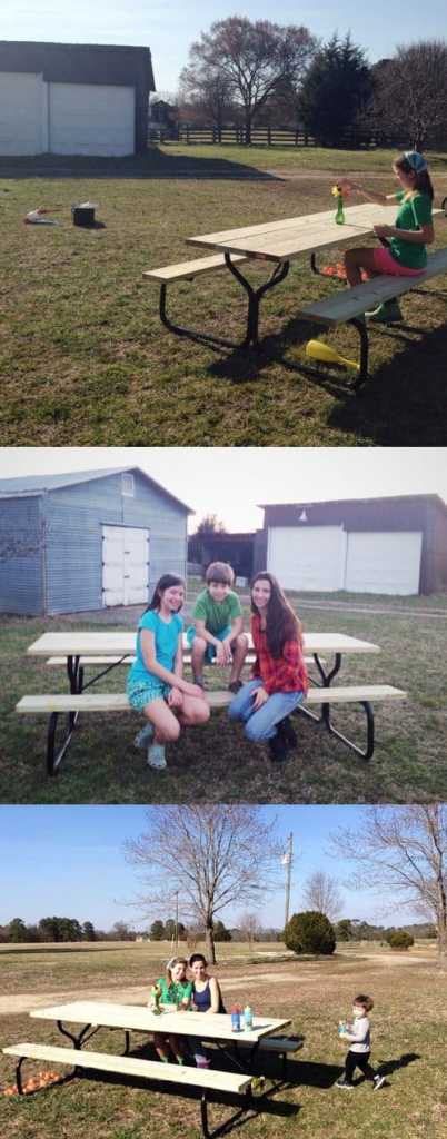 5 on Friday Picnic Table
