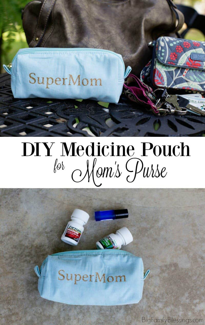 DIY Medicine Pouch for Mom's Purse