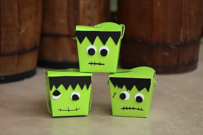 DIY Frankenstein Halloween Treat Box