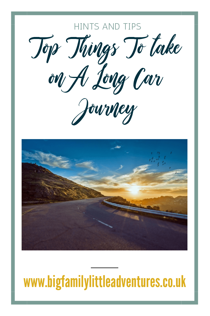 Taking a large family on a long car journey can be quite stressful if you don't plan! Click through for ten activities and products that will help the journey go smoothly.