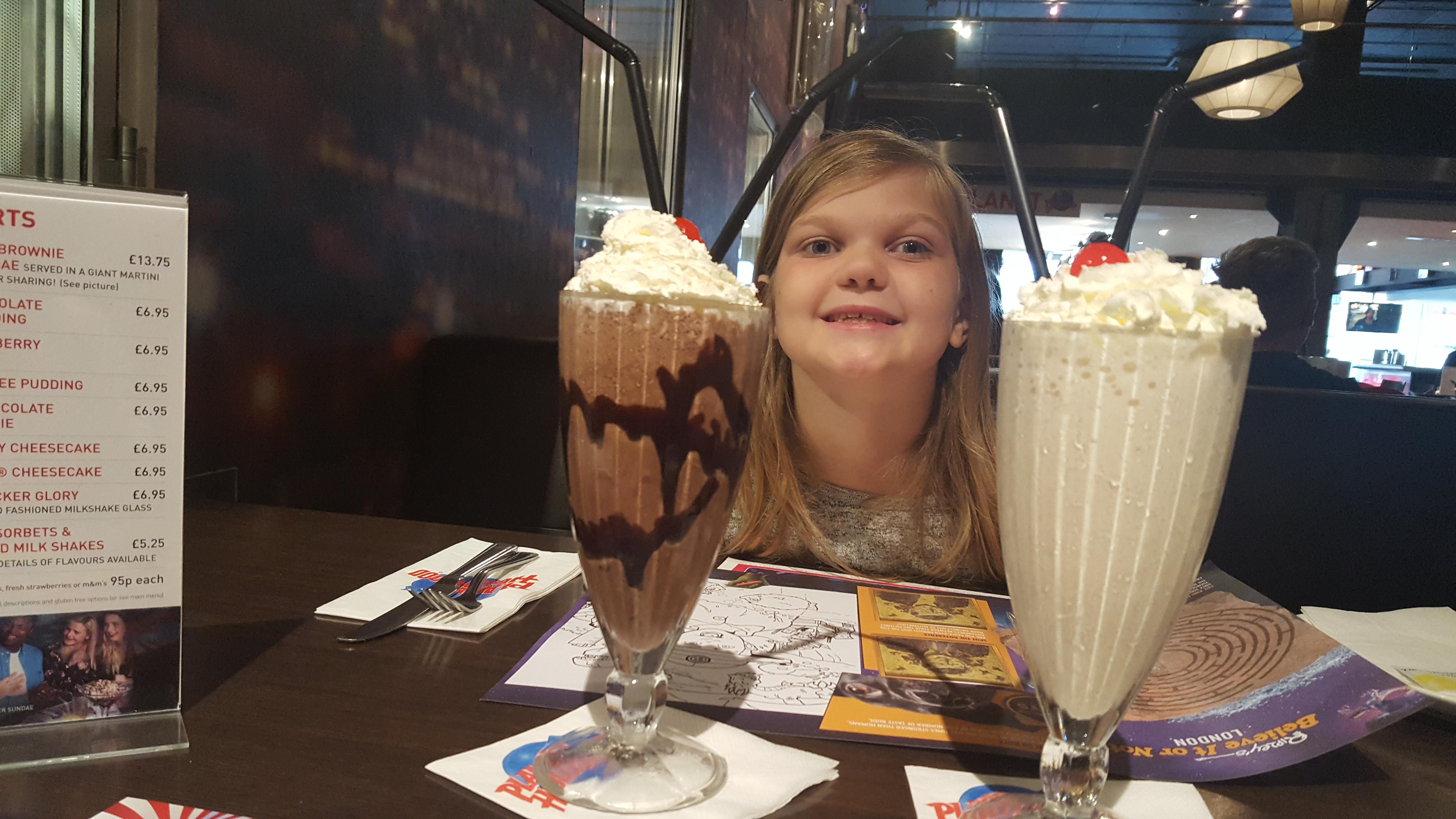 Eowyns milkshake at Planet Hollywood