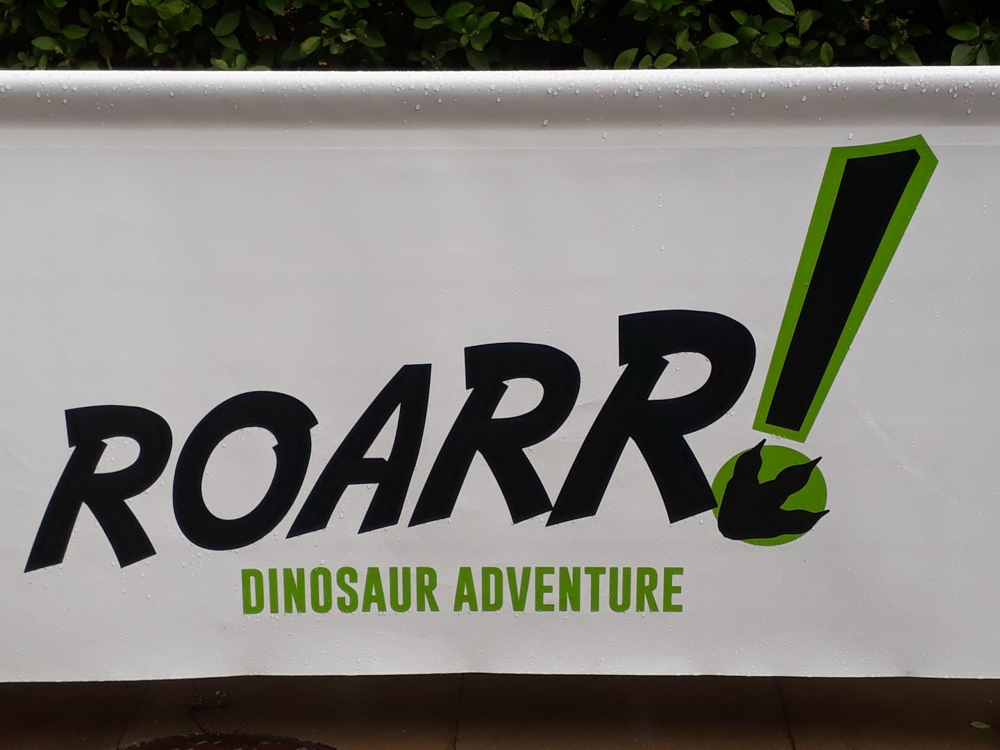 Roarr! Dinosaur Adventure Sign