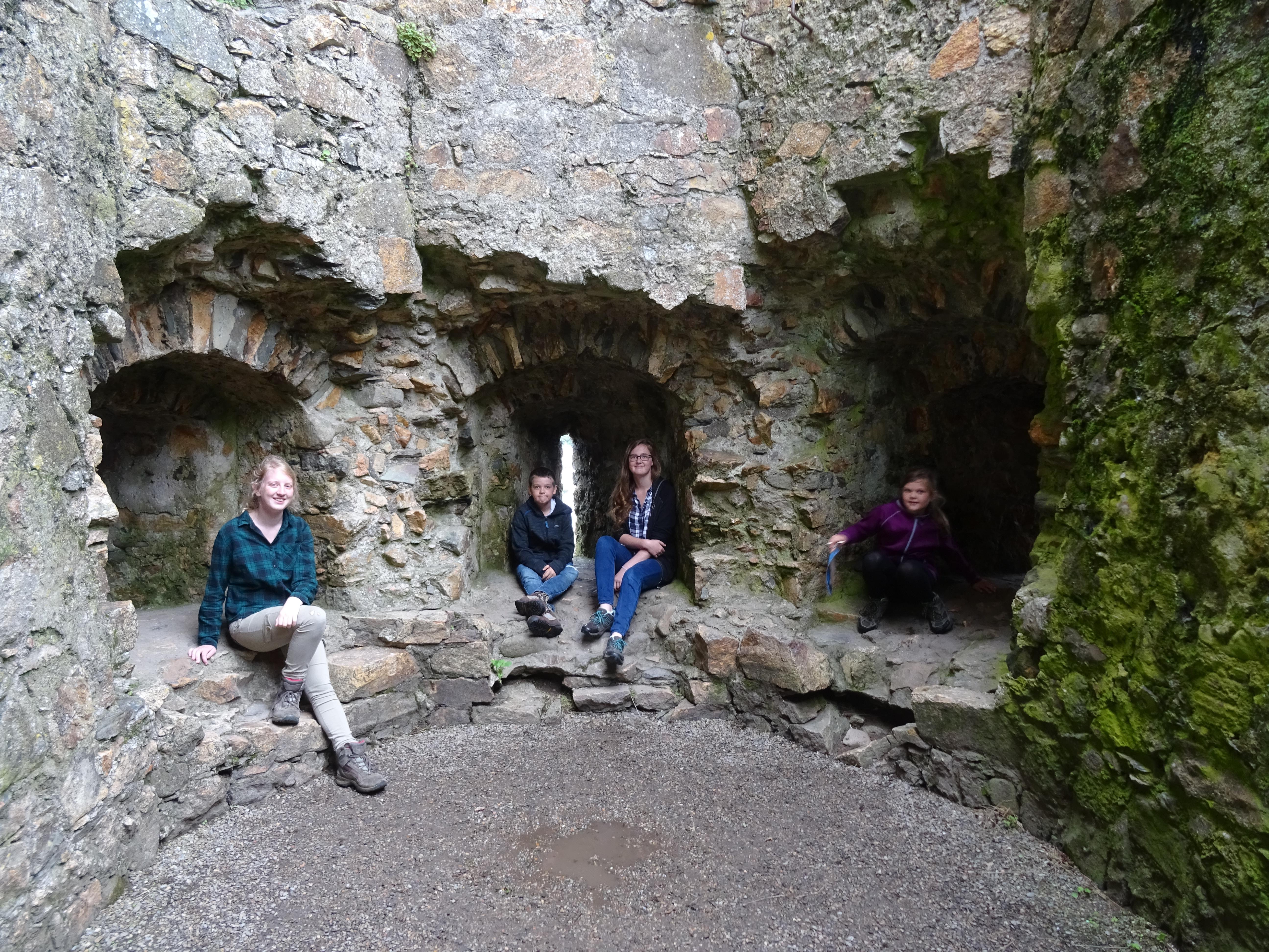 Inside Criccieth Castle