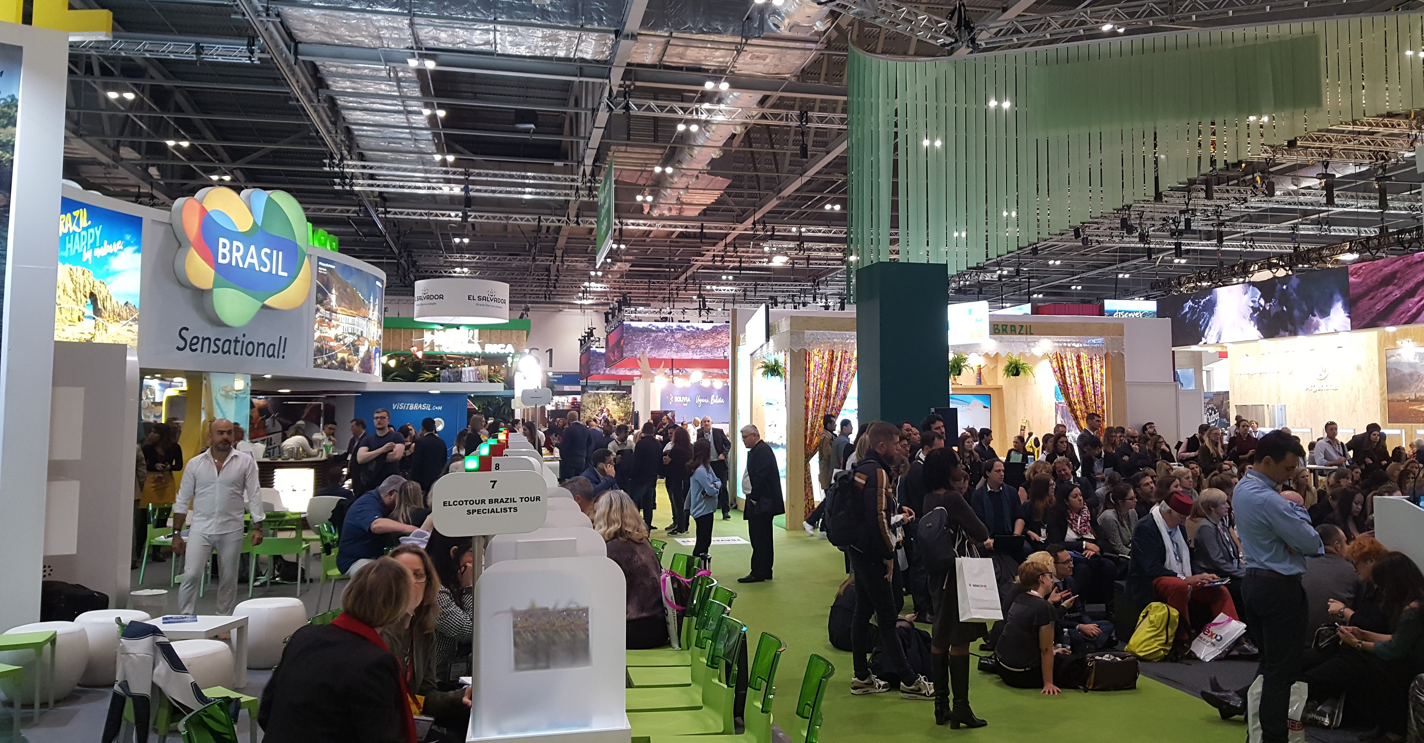 researching large family holiday destinations at World Travel Market London