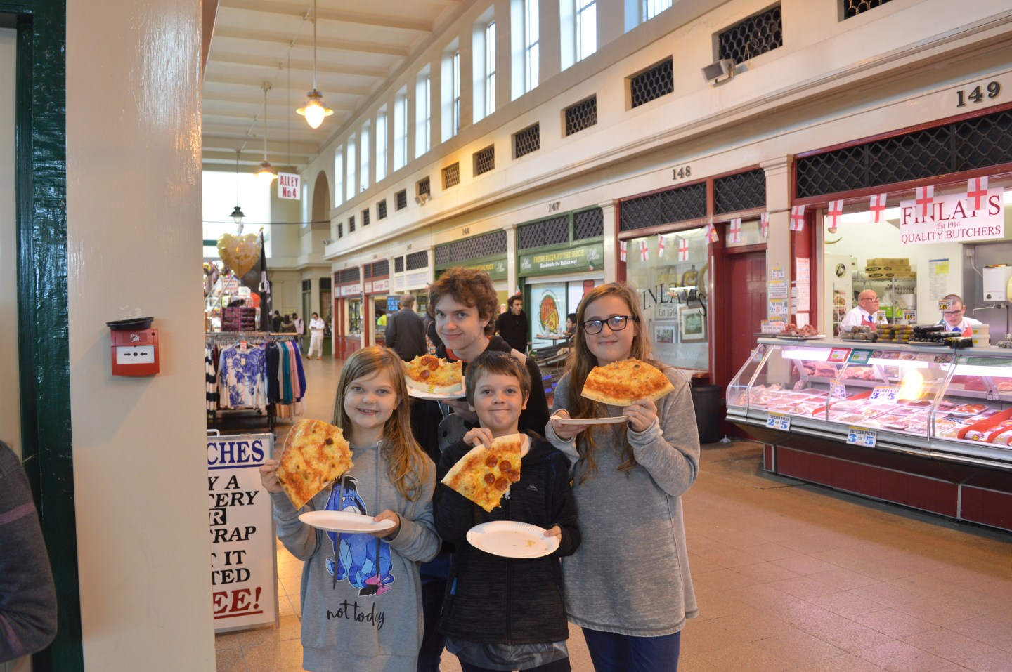 A day trip to Newcastle inside the Grainger Market and giant pizza slices