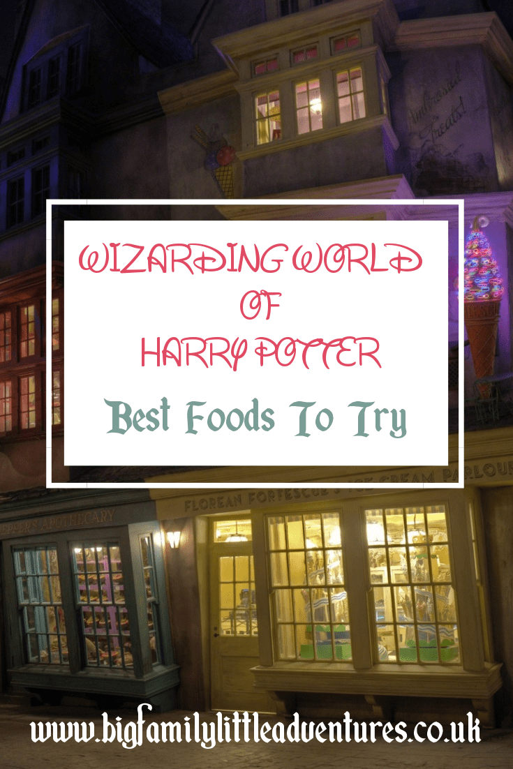 Looking for some funny and fabulous food to try at Wizarding World of Harry Potter, check out these five places that will provide you with scrumptious treats