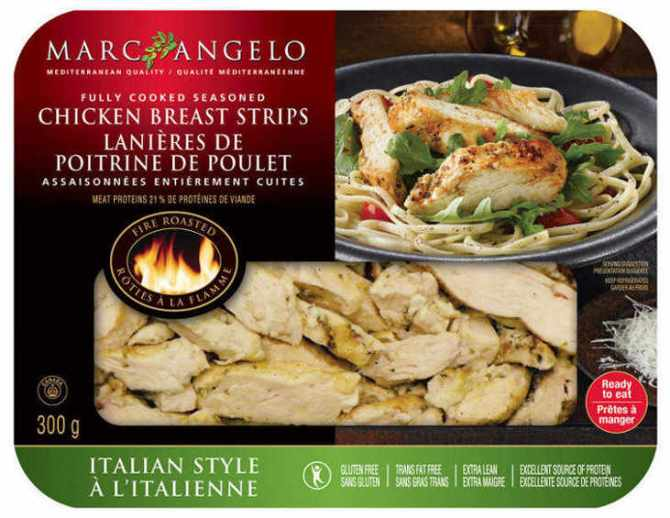 marc angelo pre cooked chicken breasts sliced