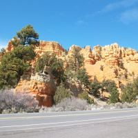 Bryce Canyon : Snow and Red Rock