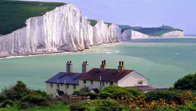The White Cliffs Of Dover Wide Desktop Background