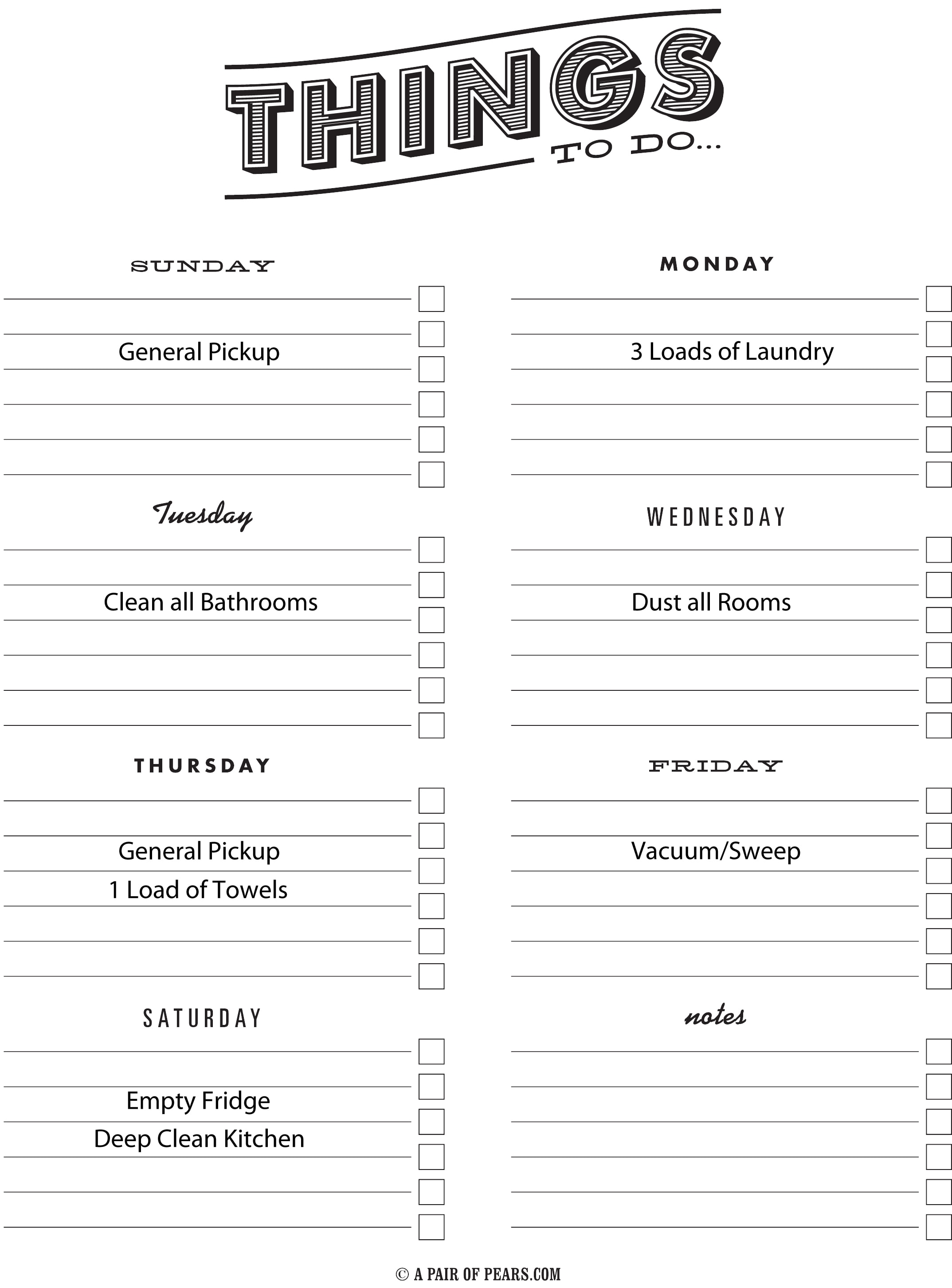 Cleaning Schedule And Tips
