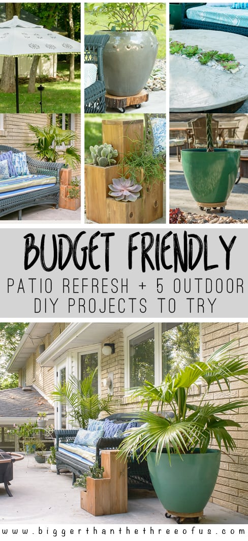 Budget-Friendly Patio Refresh + 5 Outdoor projects for you ... on Budget Friendly Patio Ideas  id=57238