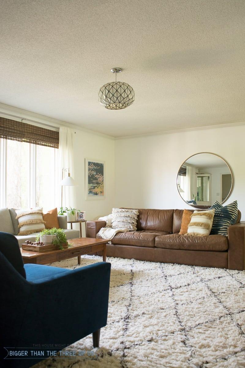 Freshly Painted White Living Room - Bigger Than the Three ... on Modern Boho Room  id=57679