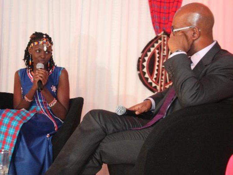 Dr. Josephine Kulea with Safaricom C.E.O Bob Collymore | courtesy