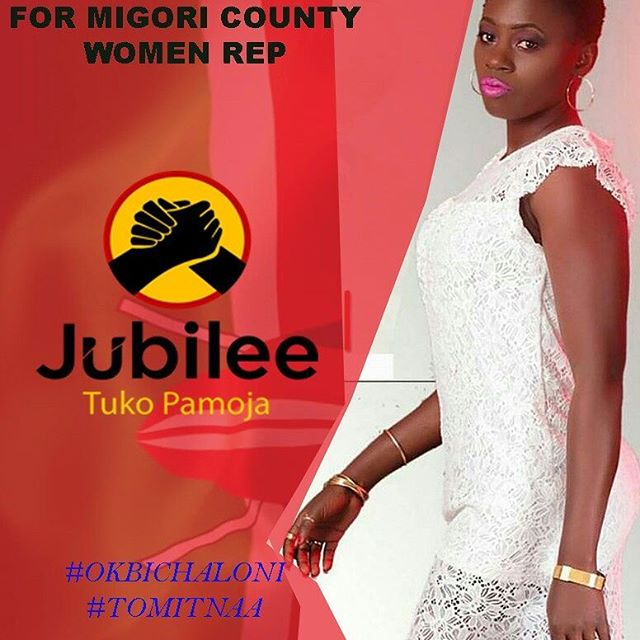 Akothee's phony picture of her vying for the Migori Women representative position | Instagram
