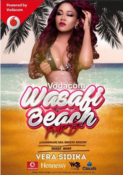 Vera Sidika's wasafi beach party poster | Instagram