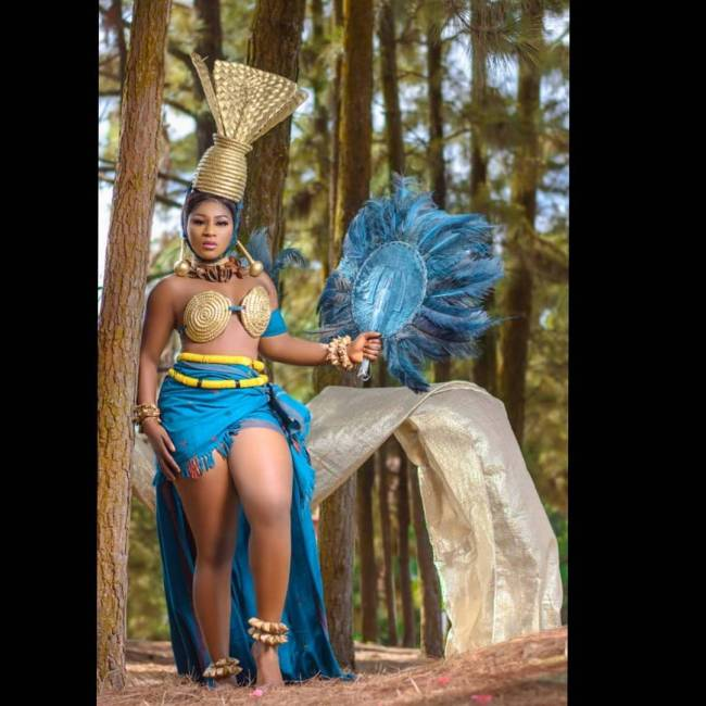 "Destiny Etike the ""African goddess"". photo credit: Instagram/destinyetikoofficial"