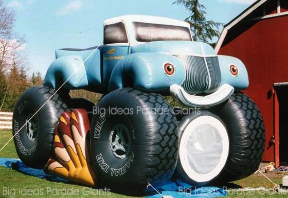 Monster Truck Cold Air Inflatables Advertising Balloons