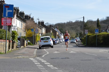 Overall winner Will Green descends the hill in mile 10. Photo: Poppy Jones