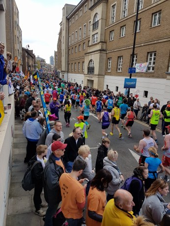 Runners at mile 14 2. Photo Vikki Vowles
