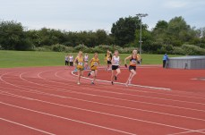 Zoe in the 1500m. Photo by Stuart Goodwin