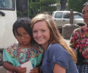 My daughter Tenley meets our sponsored child Estela and her mother in Guatemala.