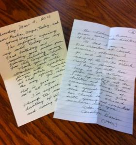 A 2010 Letter From Carolyn