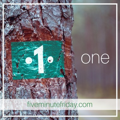 Five Minute Friday: ONE