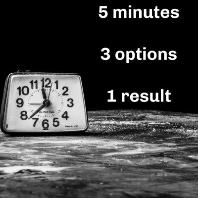 Abortion rights: 5 minutes, 3 choices, 1 result