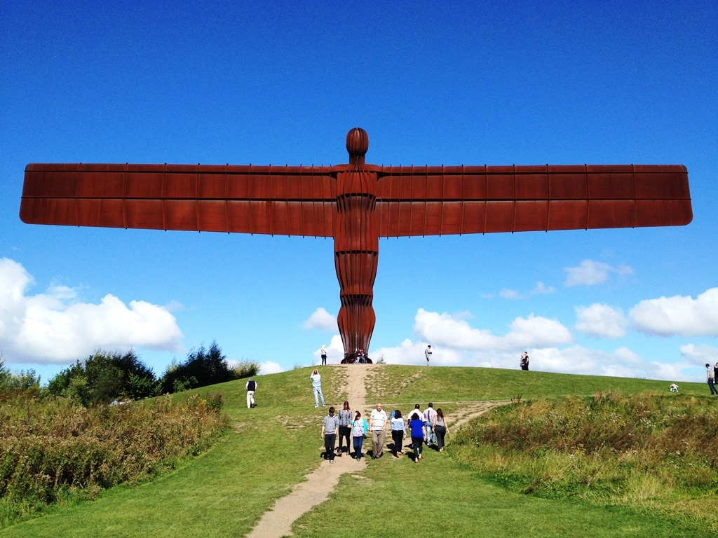 The Angel of the North straight on