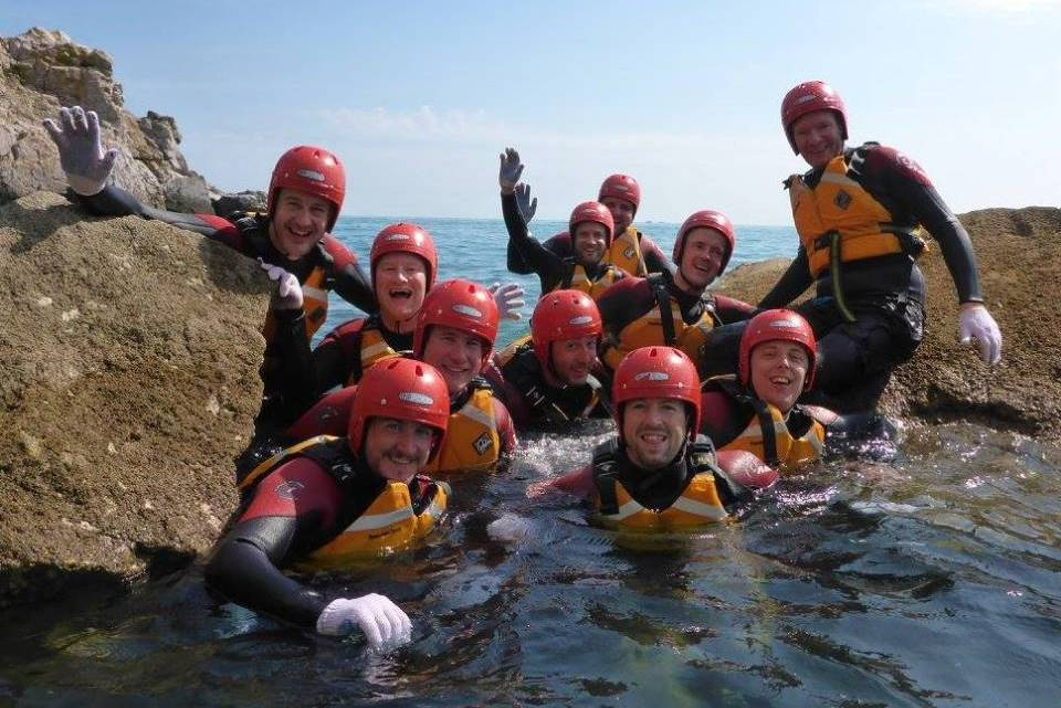 What is coasteering in the sea all about?