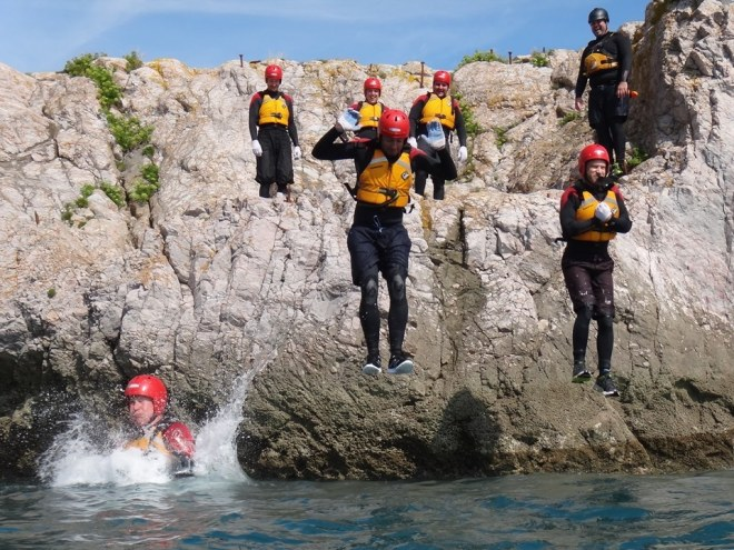 Coasteering - not very insync jumping