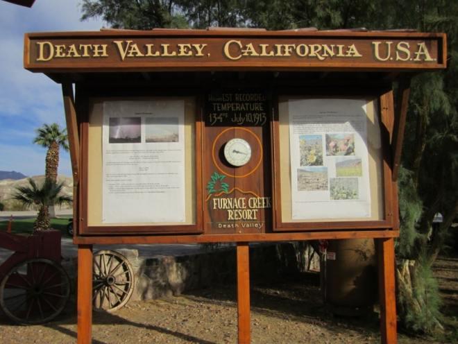 Furnace Creek Resort sign