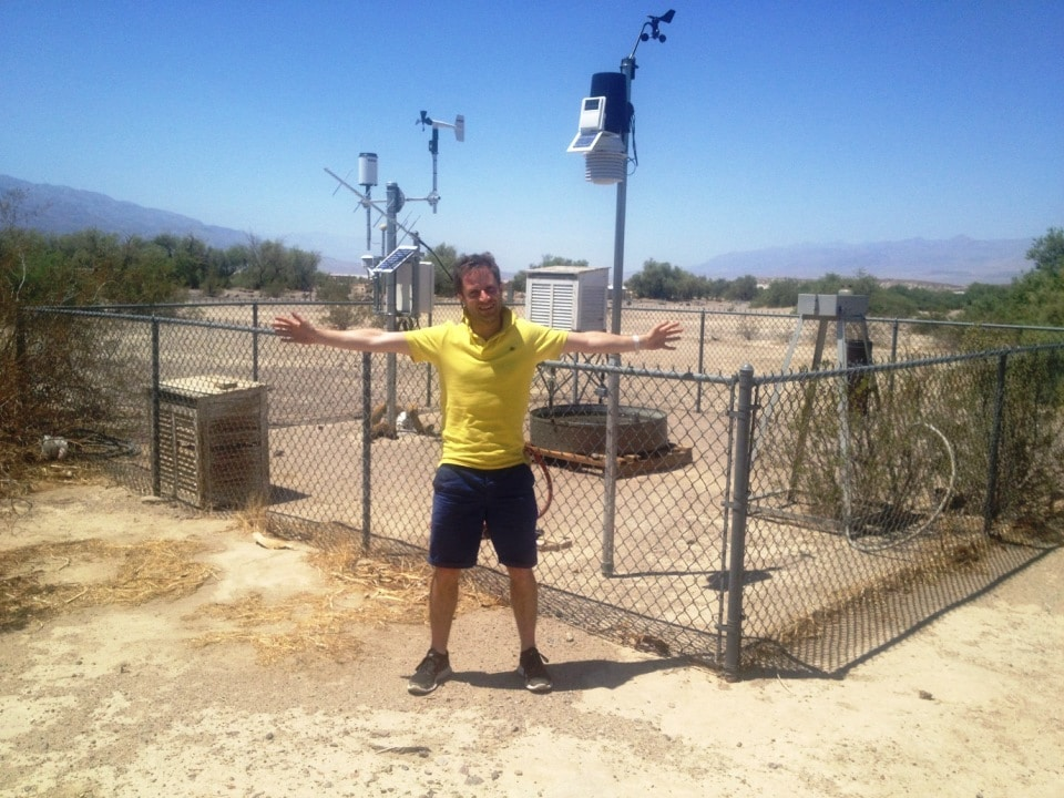 The Furnace Creek weather station today. The hottest place on Earth