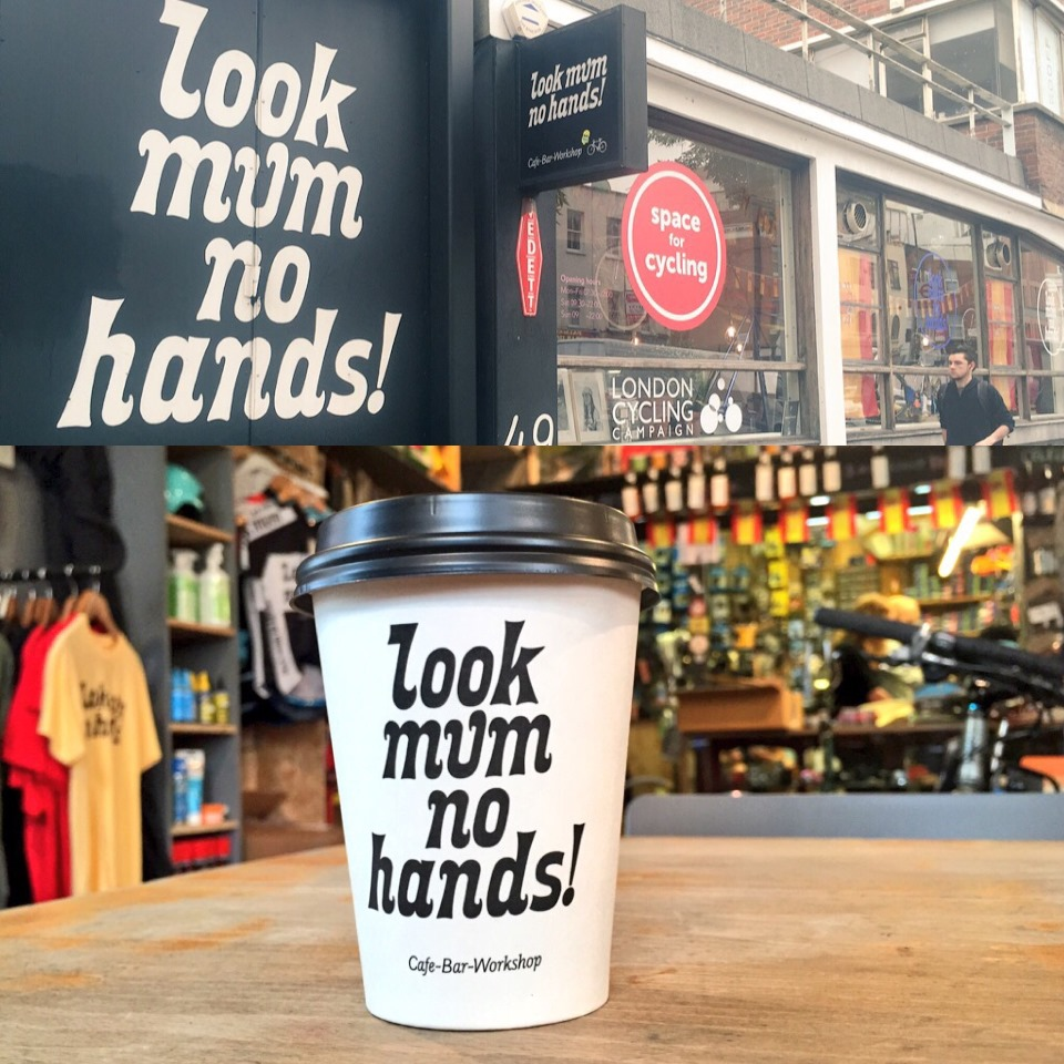 Look Mum No Hands Bike Cafe - one of my favourite independent coffee shops
