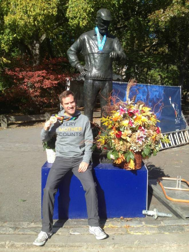 New York Marathon Fred Lebrow Statue