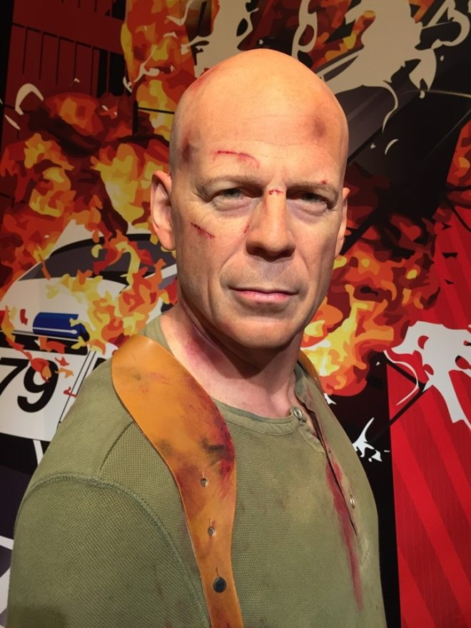 The Bruce Willis waxwork was particularly lifelike