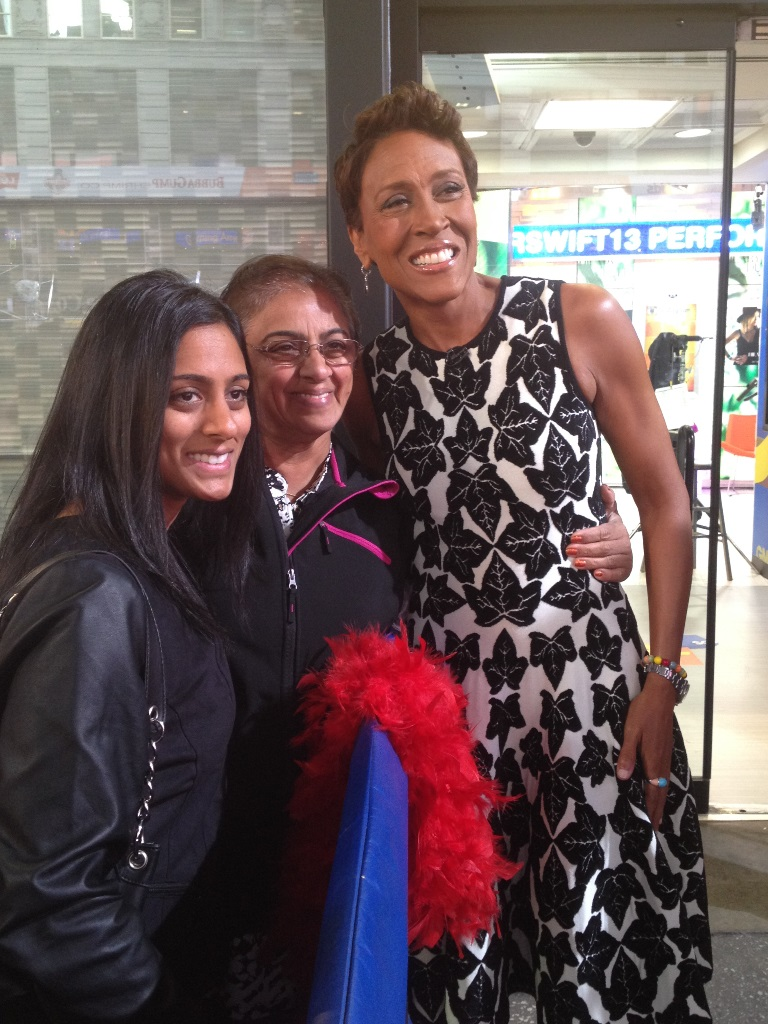Standing by the exit allowed us to have a quick chat with presenter Robin Roberts