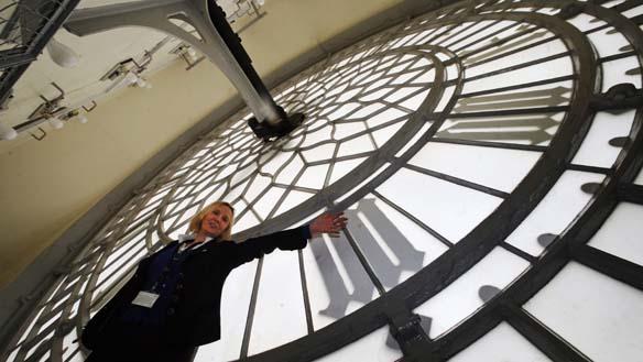 Walk behind the Big Ben clock faces