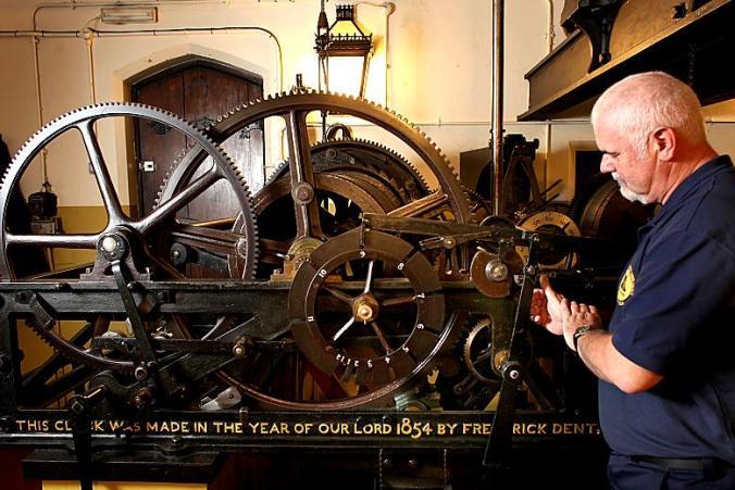 The Big Ben clock mechanism
